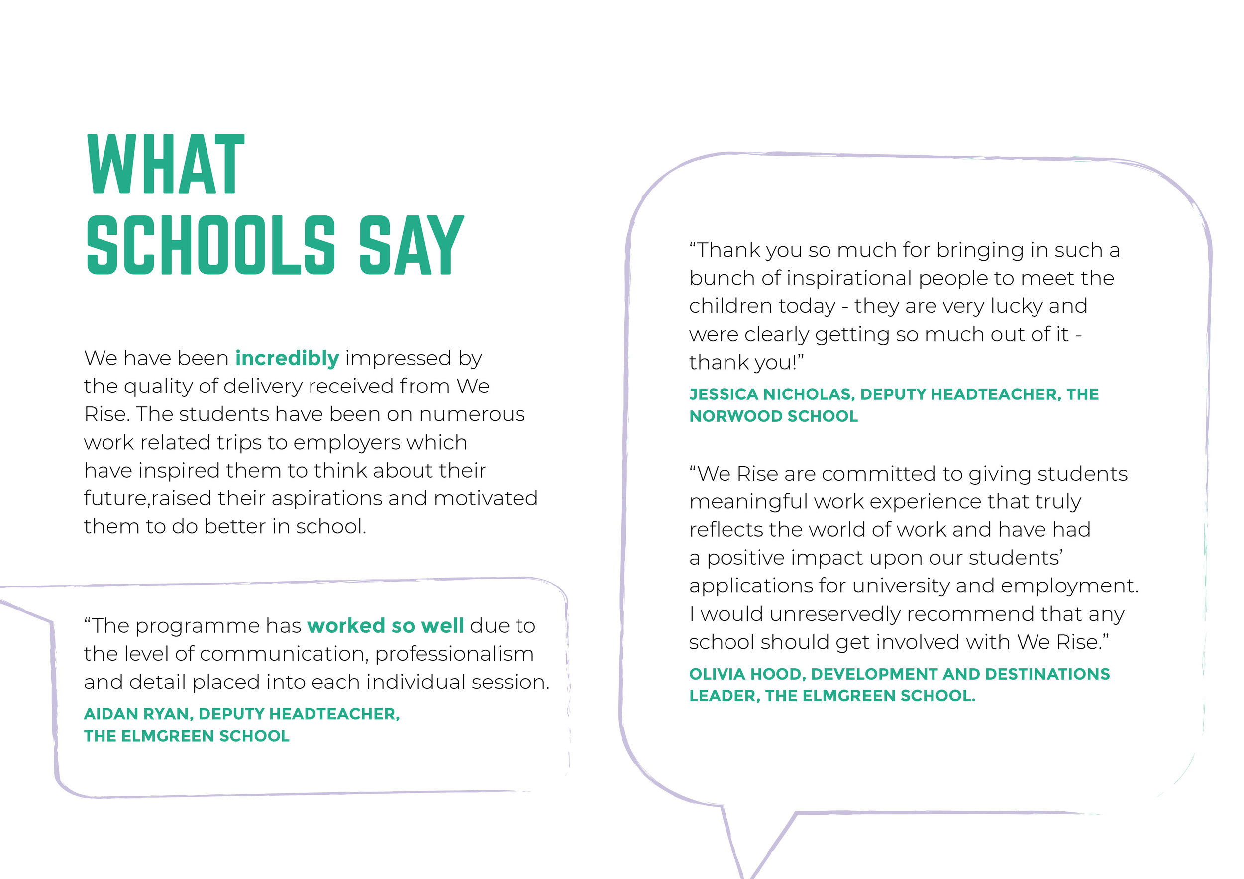 We Rise Brixton - What school say information image